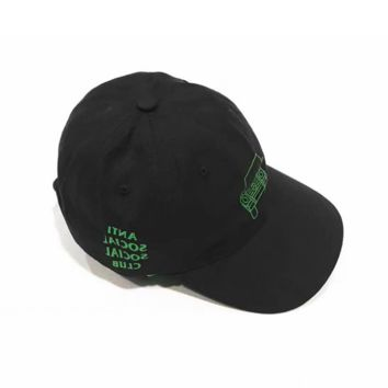 ANTI Social Social Club RSVP Cotton Baseball Cap Hats