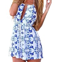 Zeagoo® Womens Halter Backless Casual Party Beach Clubwear Jumpsuit Shorts Playsuit