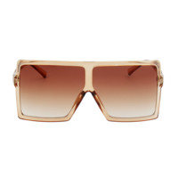 Flat Top Oversized Future Sunglasses Clear Brown