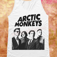 Arctic Monkeys Shirts Indie Rock Shirts White Tee Shirts Unisex Shirts Vest Women Tunic Women Tank Top Women Shirts Sleeveless Singlet Shirt