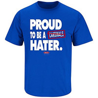 Chicago Cubs Fans. Proud To Be A Hater Royal T-Shirt (X-Large)