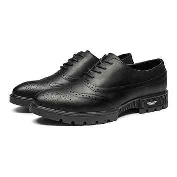 Men Microfiber Breathable Brogue Shoes