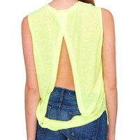 Not So Basic Sleeveless Top - Neon Yellow