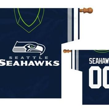 Seattle Seahawks NFL Jersey Banner 34x30 2-sided