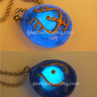 Glow In The Dark Castle in the Sky Laputa Stone Crystal Necklace