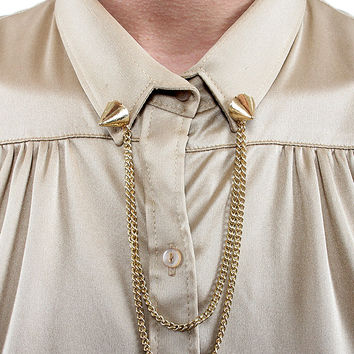 Gold Spike Collar