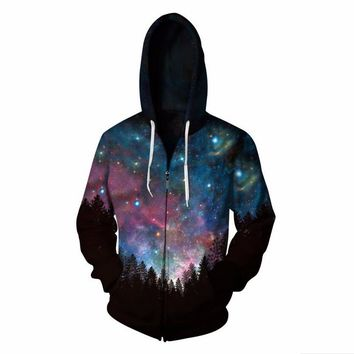 Cloudstyle Starry sky Hooded Sweatshirt Zipper Outerwear Anime Vegeta 3D Hoodies Women Men Zip Up Hoodie TracksuitsS-5XL