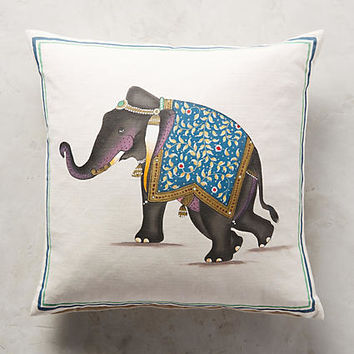 John Robshaw Indian Elephant Pillow