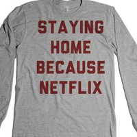 Heather Grey T-Shirt | Funny Netflix Lazy Shirts