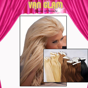"""Bombshell Blonde Tape In Hair Extensions, 18"""""""