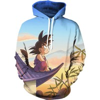 Dragon Ball Z Cute Kid Goku Hoodie