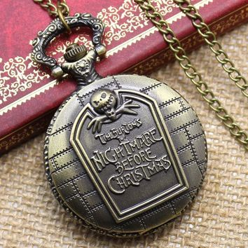 Vintage Unisex Fashion Dual Display Roman Number Quartz Steampunk Men Pocket Watch  with Chain P427