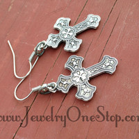 Cross Earrings, Christian jewelry, fashion jewelry, cross fashion, crosses