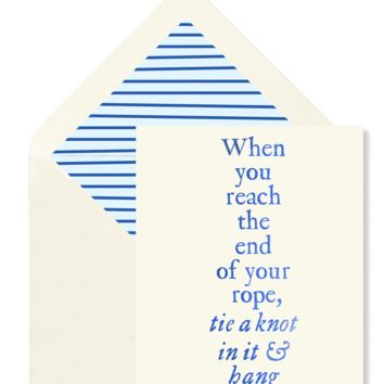 When You Reach Greeting Card, Single Folded Card or Boxed Set of 8