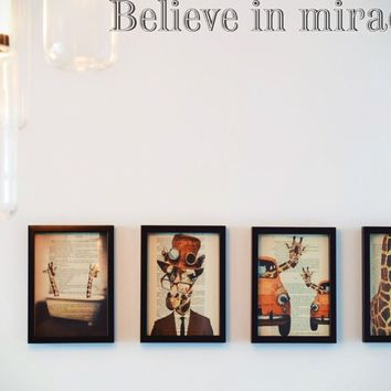 Believe in miracles Style 19 Die Cut Vinyl Decal Sticker Removable