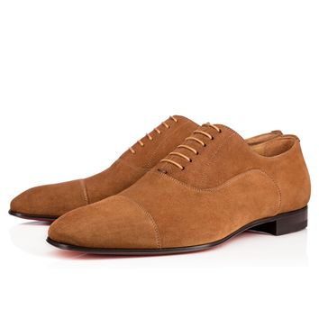 Greggo Flat Indiana Suede - Men Shoes - Christian Louboutin
