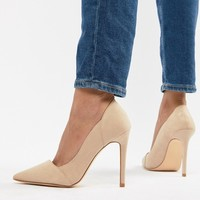 New Look Pointed Court Shoes at asos.com