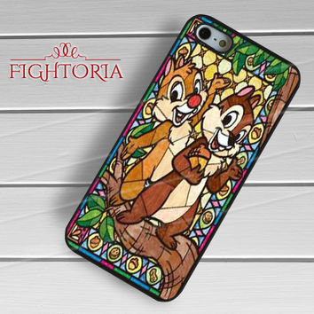 Chip and dale stained glass - zzZzz for  iPhone 4/4S/5/5S/5C/6/6+s,Samsung S3/S4/S5/S6 Regular/S6 Edge,Samsung Note 3/4