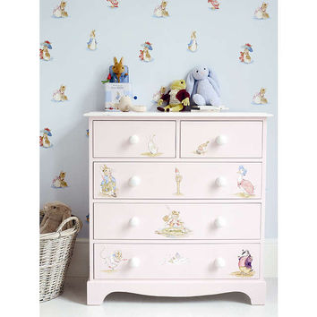 Jane Churchill Beatrix Potter Wallpaper, Cream / Multi J067W-01 at John Lewis