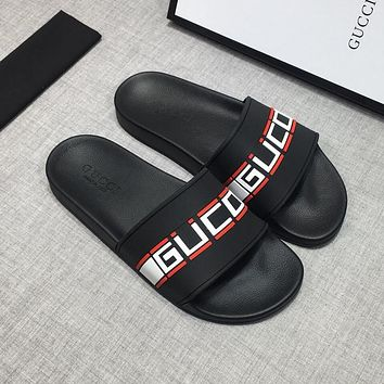 GUCCI Sandals Slippers Sliders Summer Shoes GG Flip Flop-4