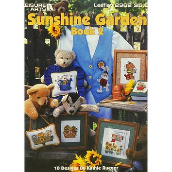 Sunshine Garden - Book 2 - Counted Cross Stitch Leaflet - Leisure Arts