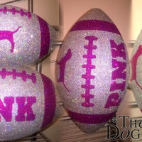 CUSTOM Pink Victoria Secret Customized Football
