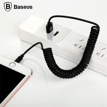 Baseus Flexible Elastic Stretch 8pin USB Cable Data Sync Charging Cable For iPhone 6 6S 7 Plus 5 5s SE iPad IOS 9 10 Data Cable