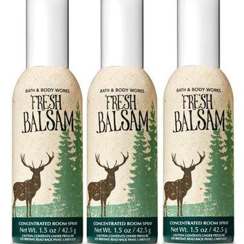 3 Bath & Body Works FRESH BALSAM Room Spray 1.5 oz