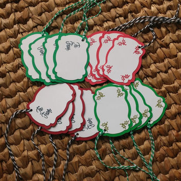 Pack of Gift Tags - Christmas Gift Labels - Holiday Tags- Pack of 16 - Christmas Favor Tags