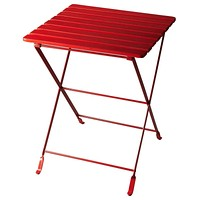 Bailey Transitional Square Folding Side Table Red