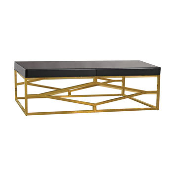 Beacon Towers Coffee Table Gold,Black