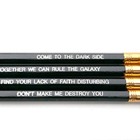 Darth Vader, Sith, Star Wars, The Darkside Inspirational Pencils