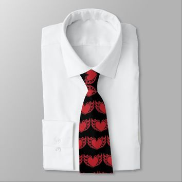 Winged Heart Neck Tie