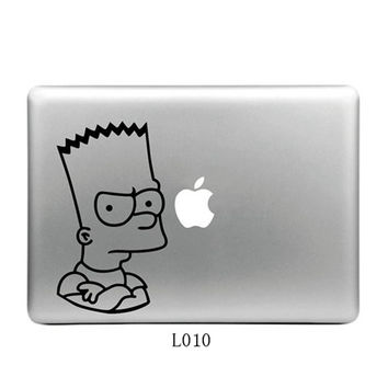 Cute Decal For Mac Air 11 13 15 Sticker for Macbook Pro Vinyl Skin Funny Totoro Pooh Bear Simpson Skin Skin Decal For Laptop
