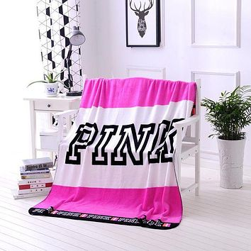 """Victoria's Secret"" Popular Conditioning Throw Blanket Quilt For Bedroom Living Rooms Sofa Rose Red"