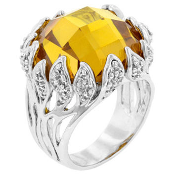Yellow Vintage Cocktail Ring