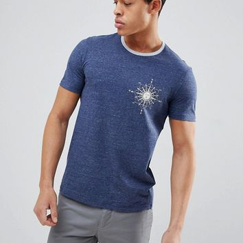 United Colors of Benetton Crew Neck T-Shirt With Compass Print at asos.com