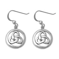 Sterling Silver Celtic Infinity Dangle Earrings
