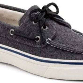 Sperry Top-Sider Bahama Wool 2-Eye Boat Shoe GrayWool, Size 10M  Men's Shoes