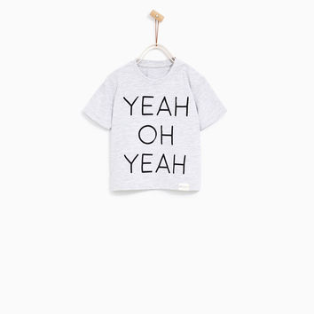 T-SHIRT WITH EMBROIDERED TEXT