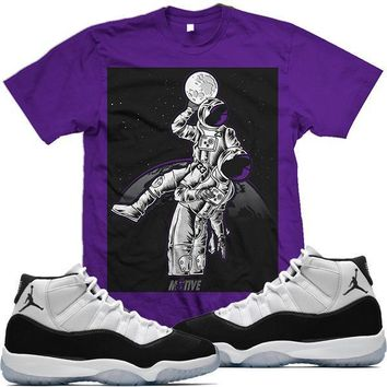 Air Jordan 11 Concord 45 Match Sneaker Tees Shirt - MOONMAN