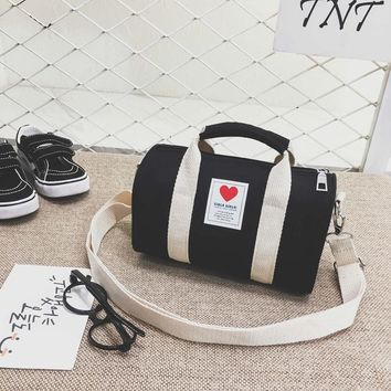 Family Friends party Board game J&Qstore trendy children's 2018 new tote bag cute messenger mini bag canvas sweet heart bag for kids cute kids baby travel bag AT_41_3