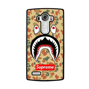 BAPE CAMO SHARK SUPREME LG G4 Case Cover