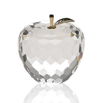 Badash SU350 Apple Faceted Paperweight    H2.5""