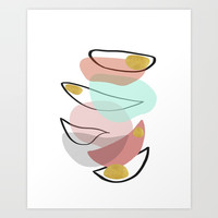 Modern minimal forms 15 Art Print by naturalcolors