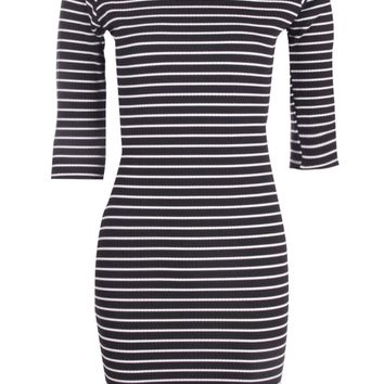 Josaphine Stripe Long Sleeve Bodycon Dress