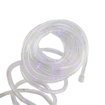 12' Solar Powered Multi-Function Purple LED Indoor/Outdoor Christmas Rope Lights with Ground Stake