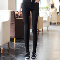 Skinny Solid Color Trouser Jeans