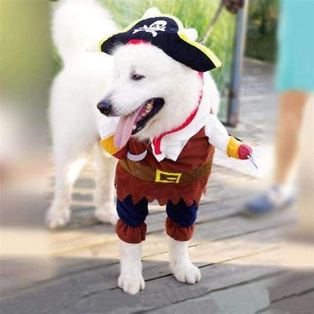 Halloween Pirate Funny Dog Clothes Winter Pet Clothing Cosplay Costume for Dogs Coat Hoody Cat Doggy Puppy Clothes outfit #