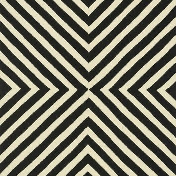Loloi Palm Springs Black / Ivory Area Rug